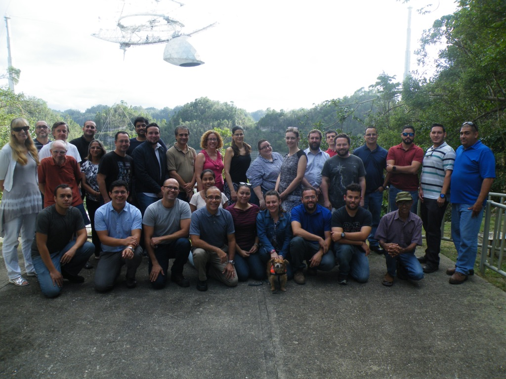 The USRA team at Arecibo Observatory, with IT, electronics, planetary radar, telescope scheduling, AOSA, HR, and radio astronomy.
