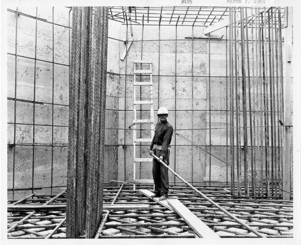 March 7, 1961 Underground Construction for the Support Cables Base