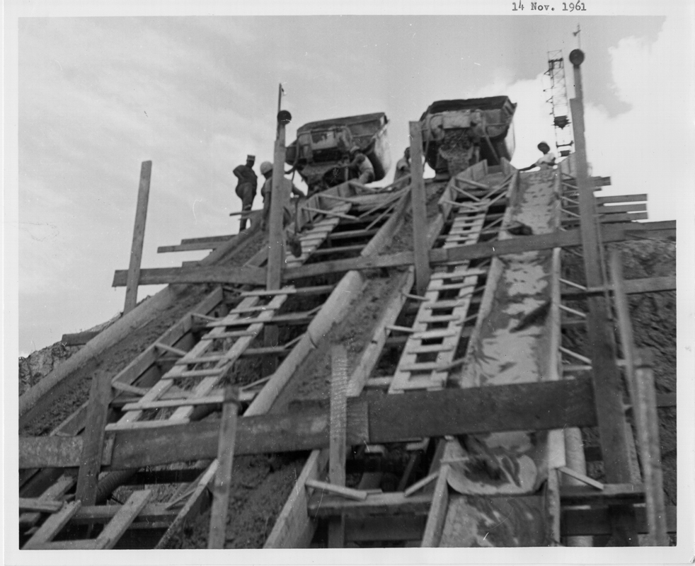 Nov 14, 1962 Pouring Cement