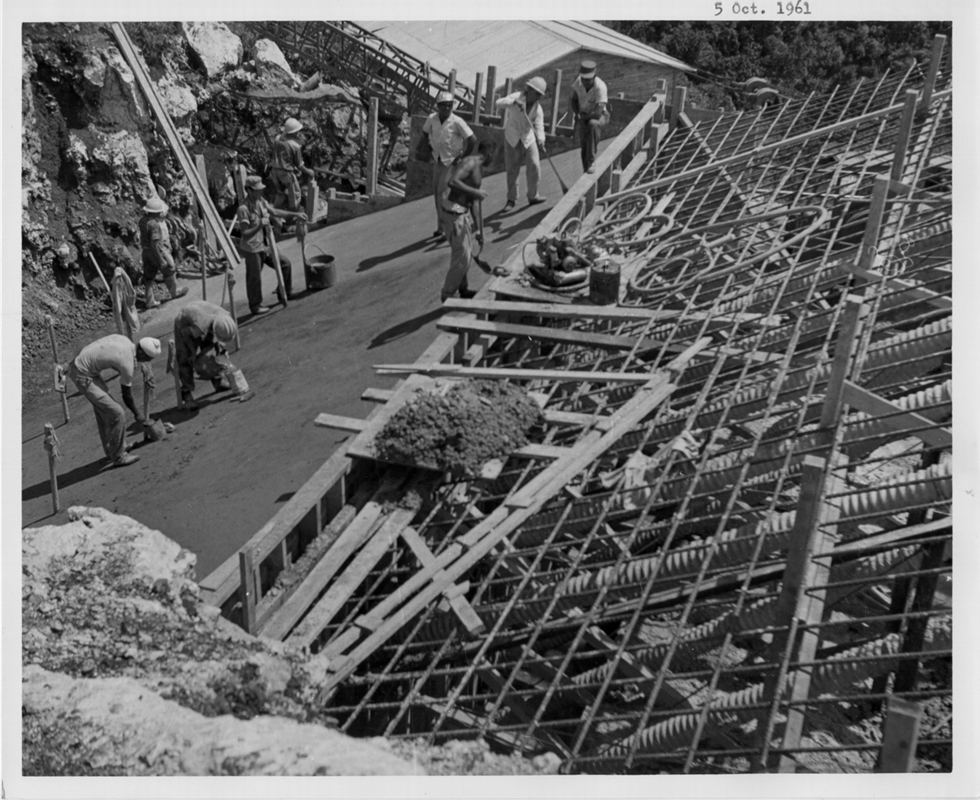 October 15, 1961 Pouring and leveling